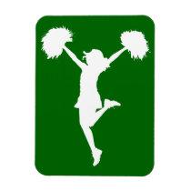 cheerleader, cheerleading, cheer, art, artwork, pom-poms, al rio, sports, customizable, [[missing key: type_fuji_fleximagne]] com design gráfico personalizado