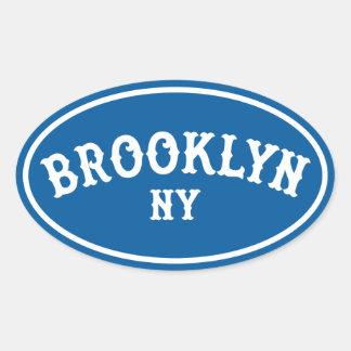 No. oval 1 del pegatina de Brooklyn