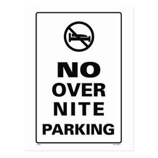 No OverNite Parking Postcard
