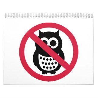 No owls calendar