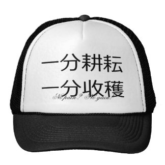 No pain? No gain!  Chinese proverb Trucker Hat