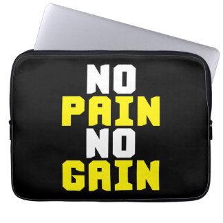 No Pain, No Gain - Gym Workout Motivational Computer Sleeve