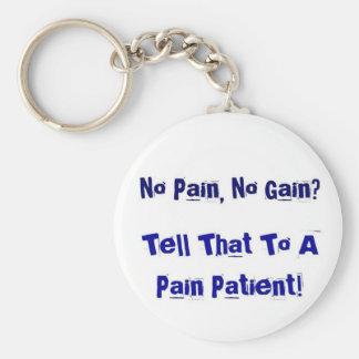 No Pain, No Gain? Basic Round Button Keychain