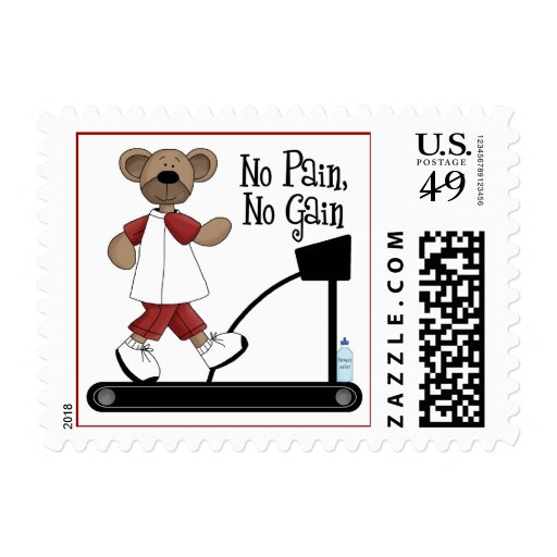 No Pain No Gain Postage