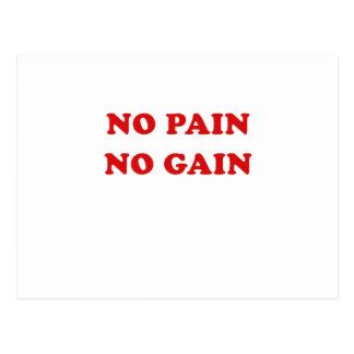 No Pain No Gain Postcard