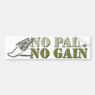 No Pain No Gain - Running Bumper Sticker