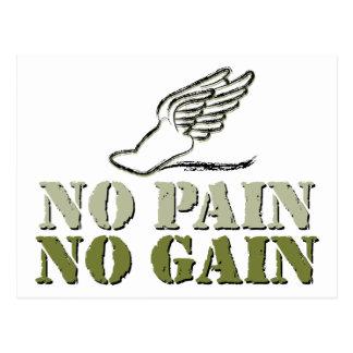 No Pain No Gain - Running Postcard