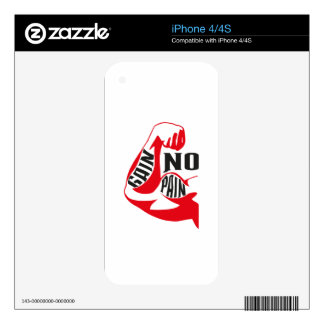 No pain no gain skin for the iPhone 4