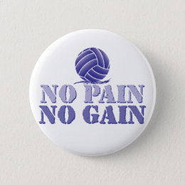 No pain gain volleyball gifts on zazzle no pain no gain volleyball pinback button negle Images