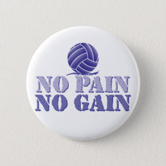 No pain gain volleyball gifts on zazzle no pain no gain volleyball pinback button negle Choice Image
