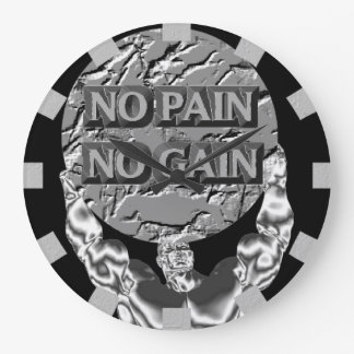 No Pain No Gain Wall Clock