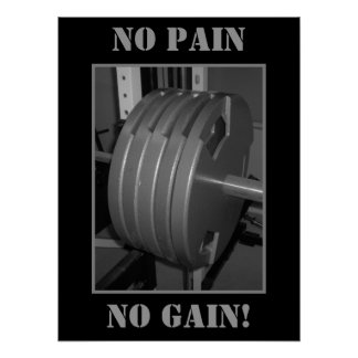NO PAIN NO GAIN! Weightlifting Exercise Poster