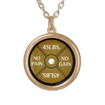 No Pain No Gain Weightliting Necklace