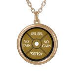 No Pain No Gain Weightliting Necklace