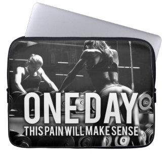 No PAIN No Gain - Women's Workout Motivational Laptop Sleeve