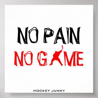 NO PAIN NO GAME POSTER