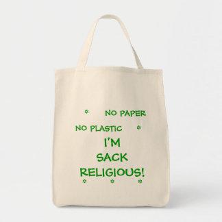 No Paper No Plastic  I'm Sack Religious Tote Bag