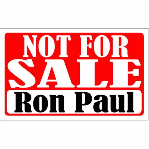 No para la escultura de la foto de Ron Paul de la  Fotoescultura Vertical