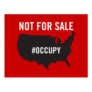 No para la venta - ocupe Wall Street - somos los Postales
