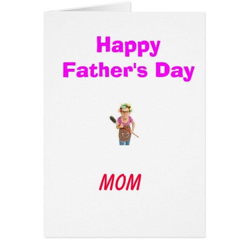 No para su padre normal tarjeta de felicitación