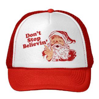 No pare el creer de navidad gorras de camionero