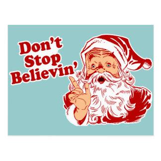 No pare el creer de navidad postales