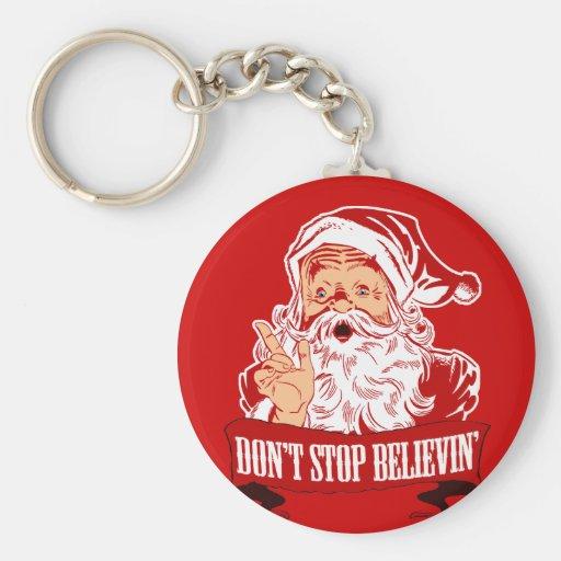 No pare el creer en Santa Llaveros