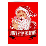 No pare el creer en Santa Tarjeta