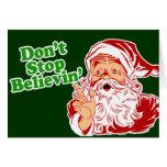 No pare el creer en Santa Tarjetón