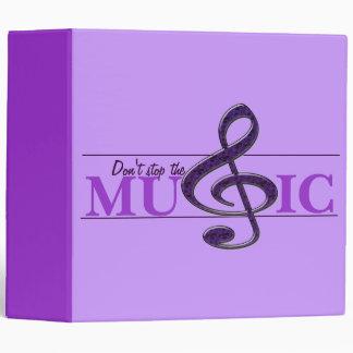 No pare la carpeta púrpura del acento de la música