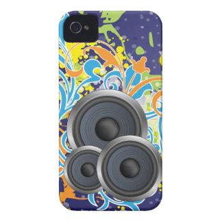 no pare la música elegante con los altavoces iPhone 4 fundas