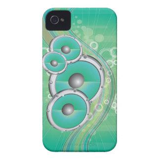 no pare la música elegante con los altavoces VOL2 iPhone 4 Case-Mate Protector