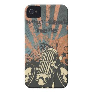 no pare la música elegante con los altavoces VOL3 Case-Mate iPhone 4 Coberturas