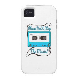 ¡No pare por favor la música! iPhone 4/4S Carcasa