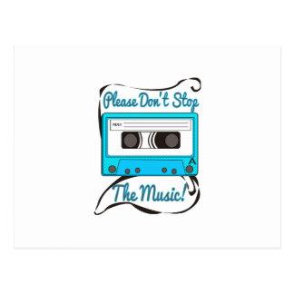 ¡No pare por favor la música! Postal