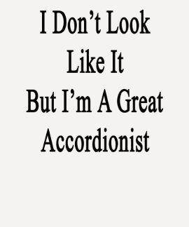 No parezco él sino que soy gran acordeonista camiseta