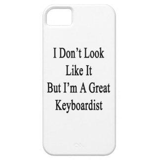 No parezco él sino que soy gran teclista iPhone 5 carcasas
