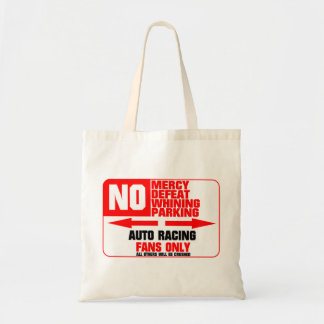 No Parking Auto Racing Sign Tote Bag
