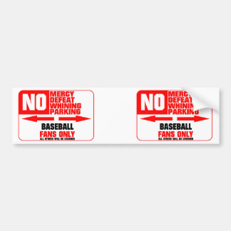 No Parking Baseball Sign Bumper Stickers