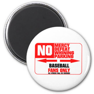 No Parking Baseball Sign Magnet