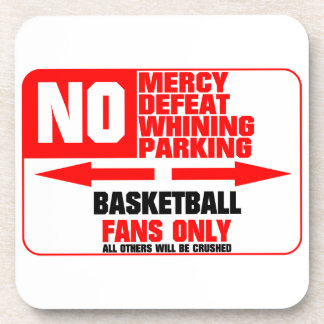 No Parking Basketball Drink Coaster