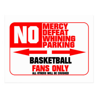 No Parking Basketball Postcard