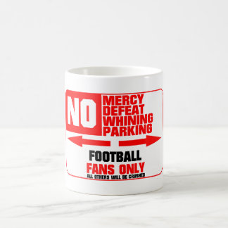 No Parking Football Sign Coffee Mug