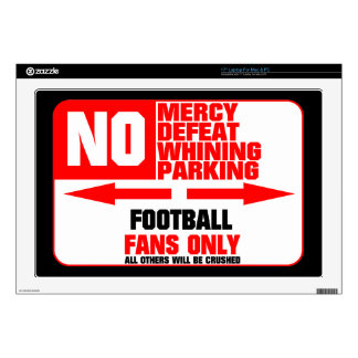 No Parking Football Sign Laptop Decals