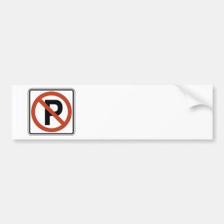 No Parking sign Bumper Stickers