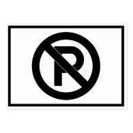 No Parking Symbol Business Card Template