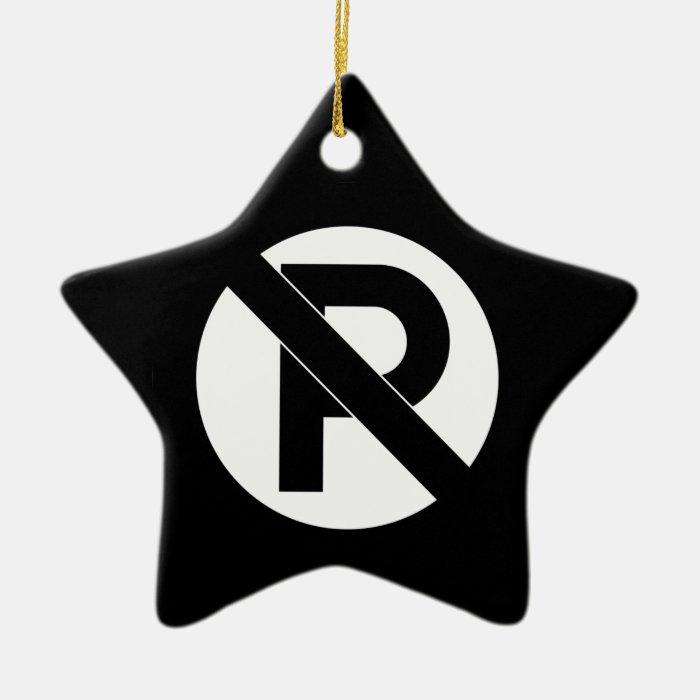 No Parking Symbol Ceramic Ornament