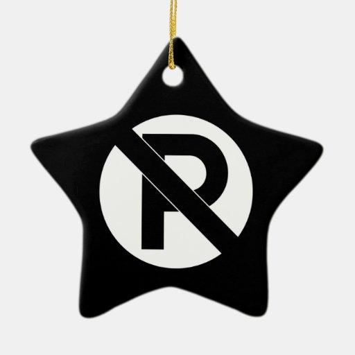 No Parking Symbol Christmas Ornament