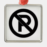No Parking Symbol Christmas Ornaments