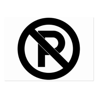 No Parking Symbol Large Business Cards (Pack Of 100)